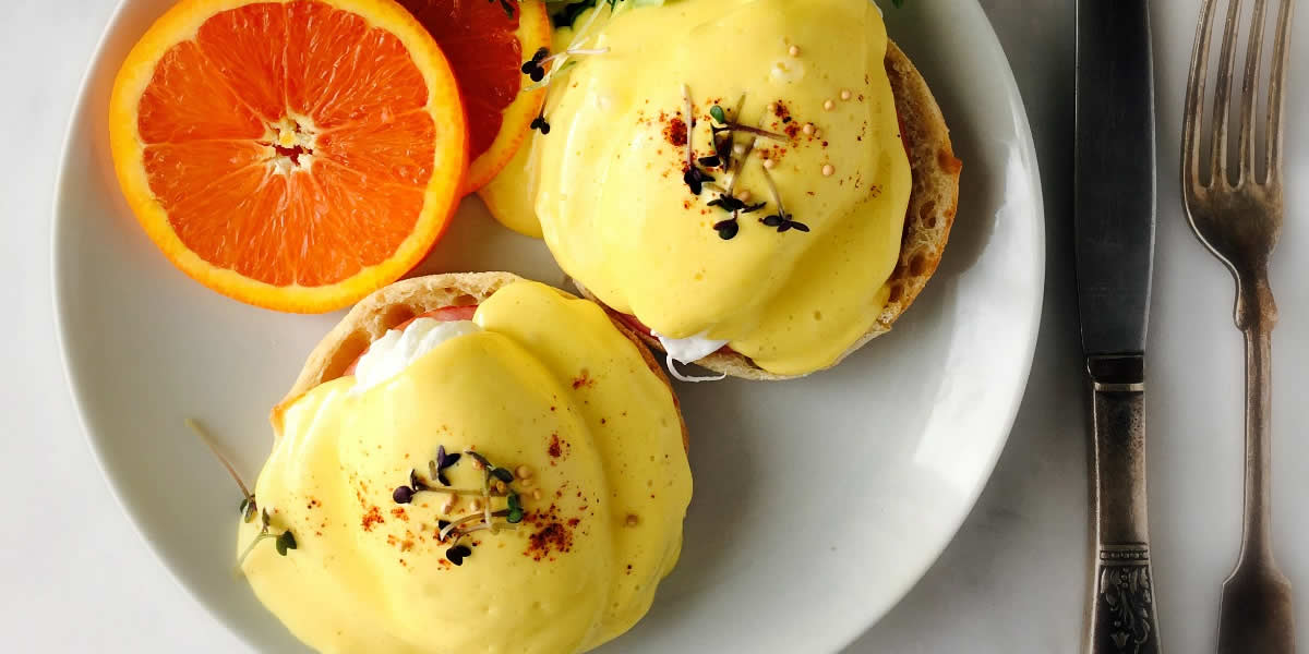 Bennies With Zippy Blender Dijon Hollandaise