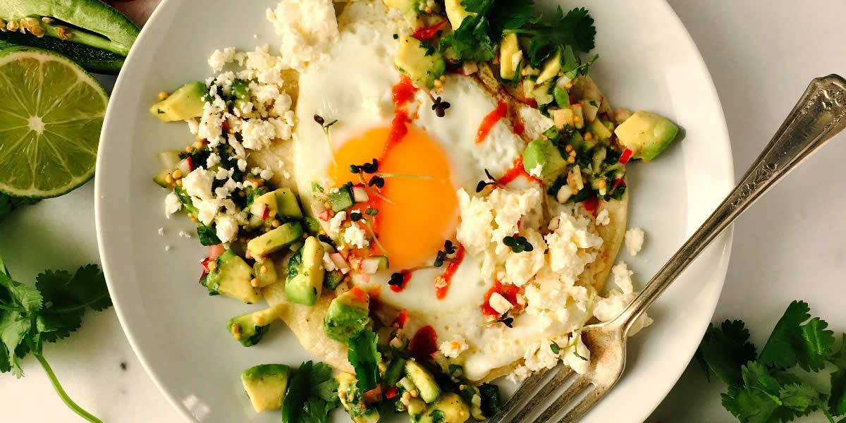 Breakfast Tacos With Savoury Avocado & Mustard Seed Salsa