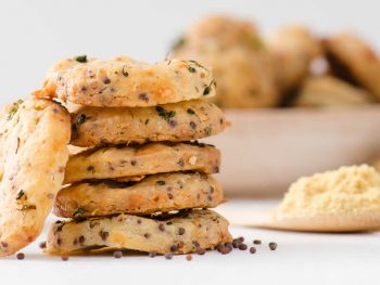 Broccoli Mustard Cheese Crackers