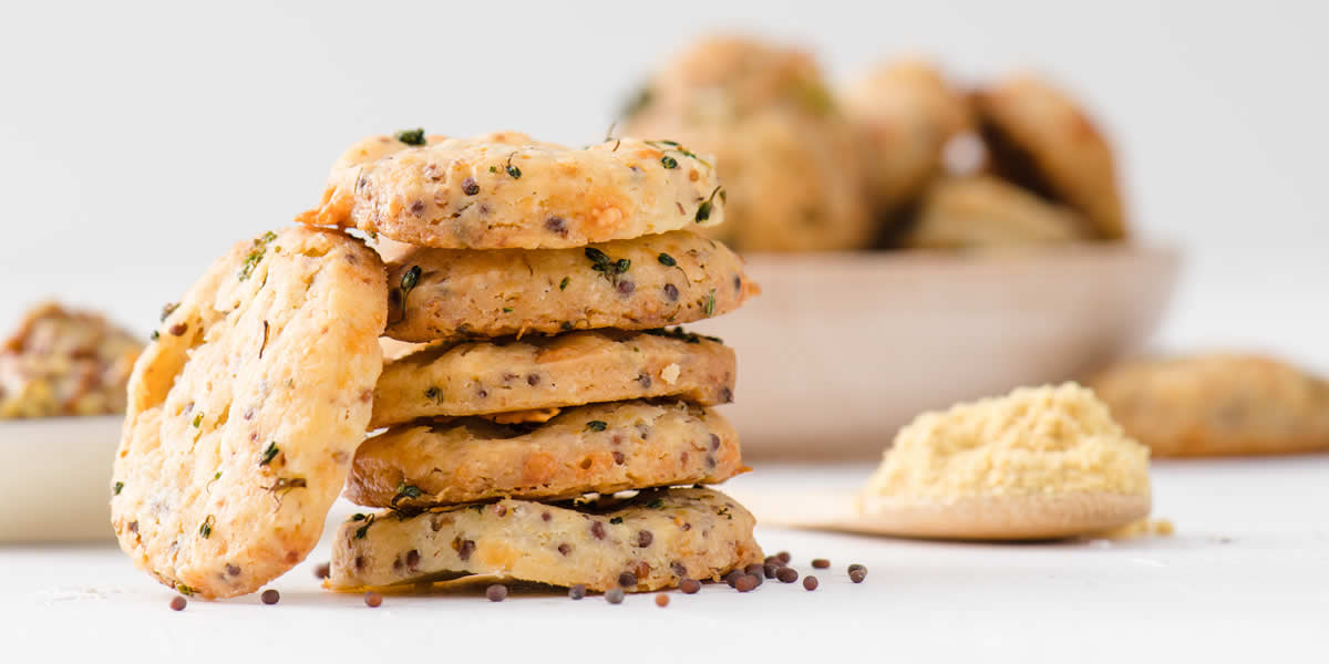 Broccoli Mustard Cheese Crackers