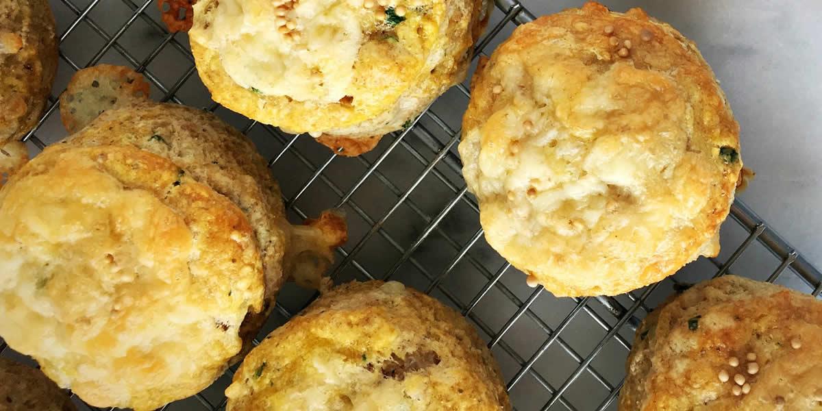 Cheddar, Chive & Mustard Spelt Biscuits