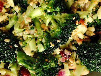 Honey Mustard Broccoli and Bacon Salad