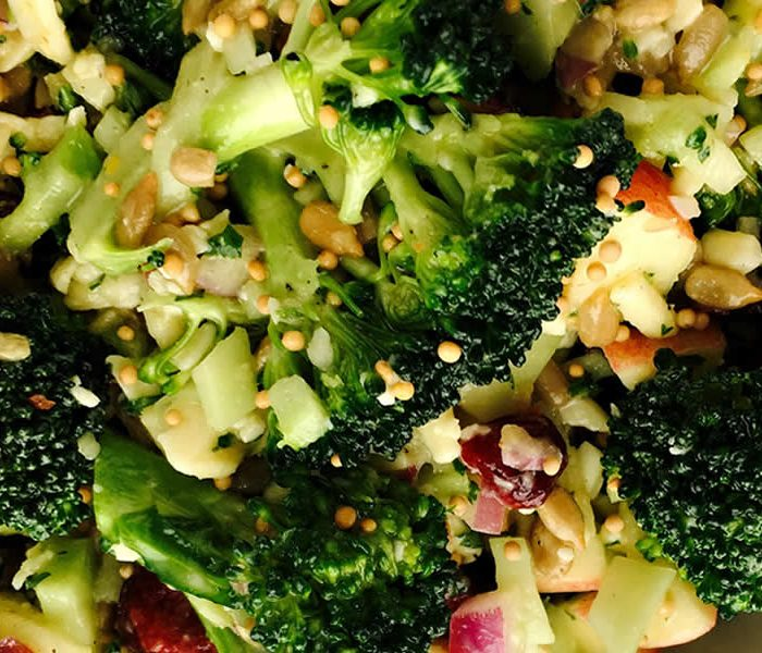 Honey Mustard Broccoli and Bacon Salad