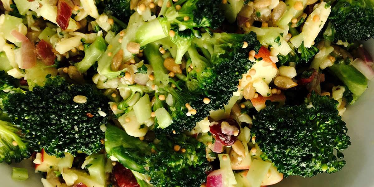 Honey Mustard Broccoli & Bacon Salad