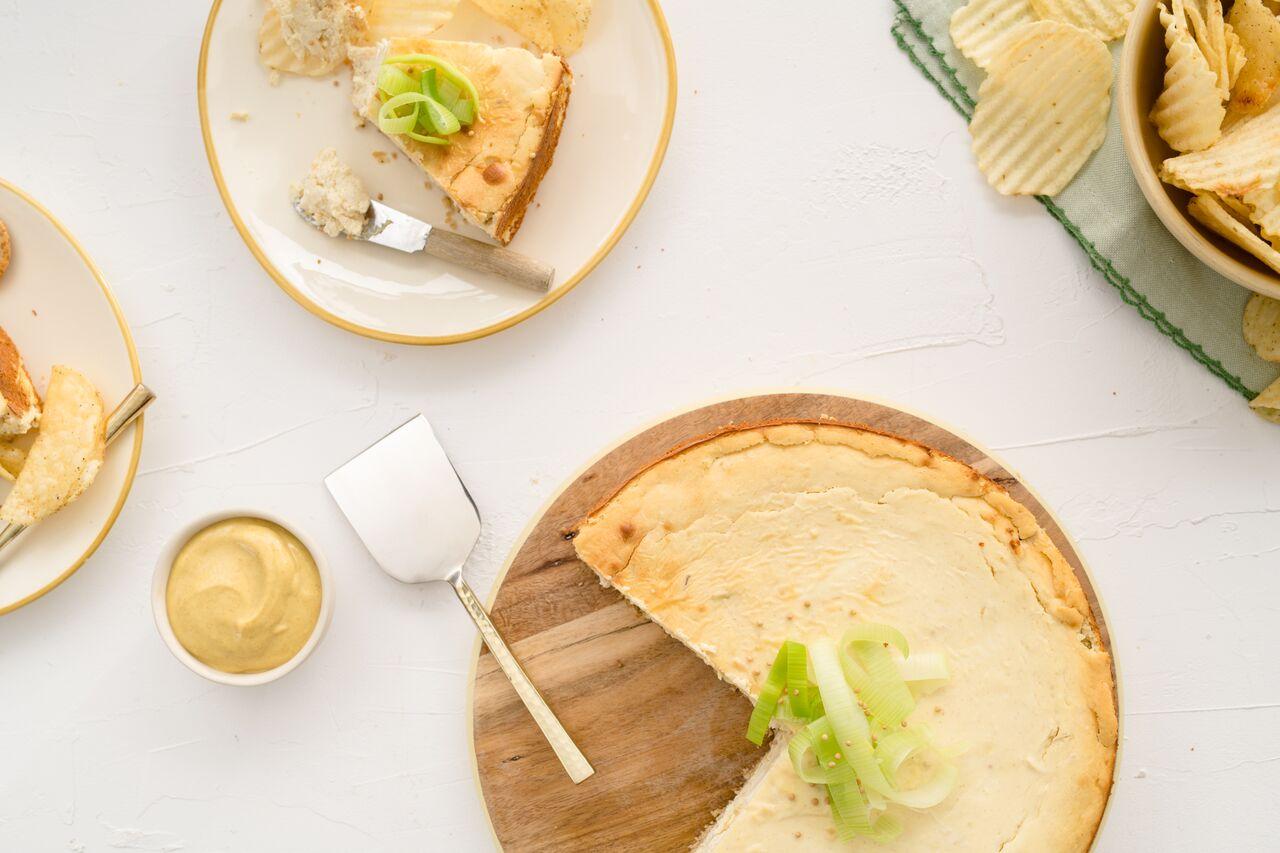 Mustard & Leek Savory Cheesecake