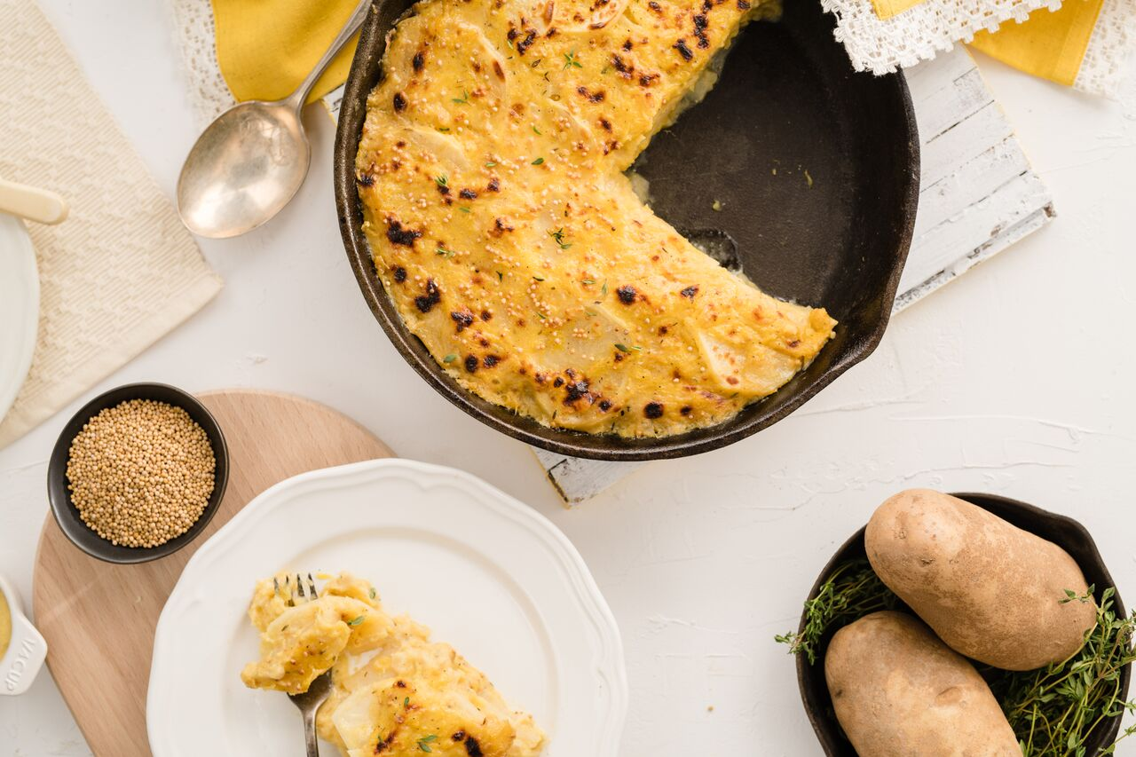 Mustard & Squash Scalloped Potatoes