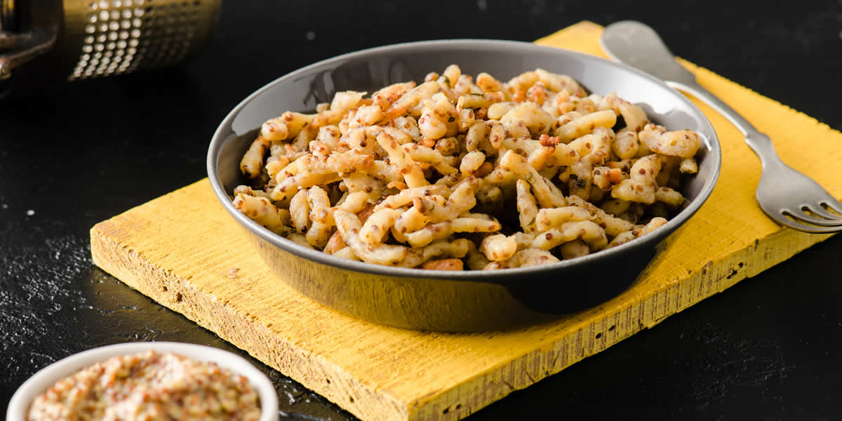Roast Mustard Spaetzle