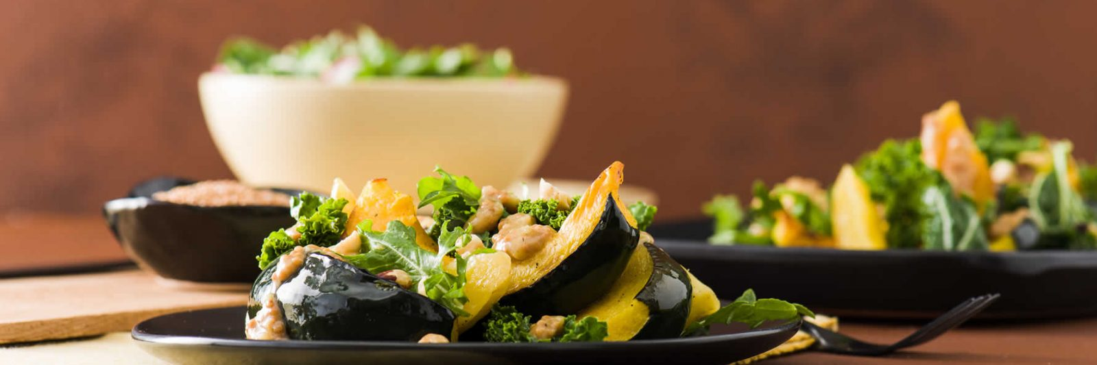 Side Dish Recipes with Mustard - Roasted Squash with Warm Mustard Vinaigrette