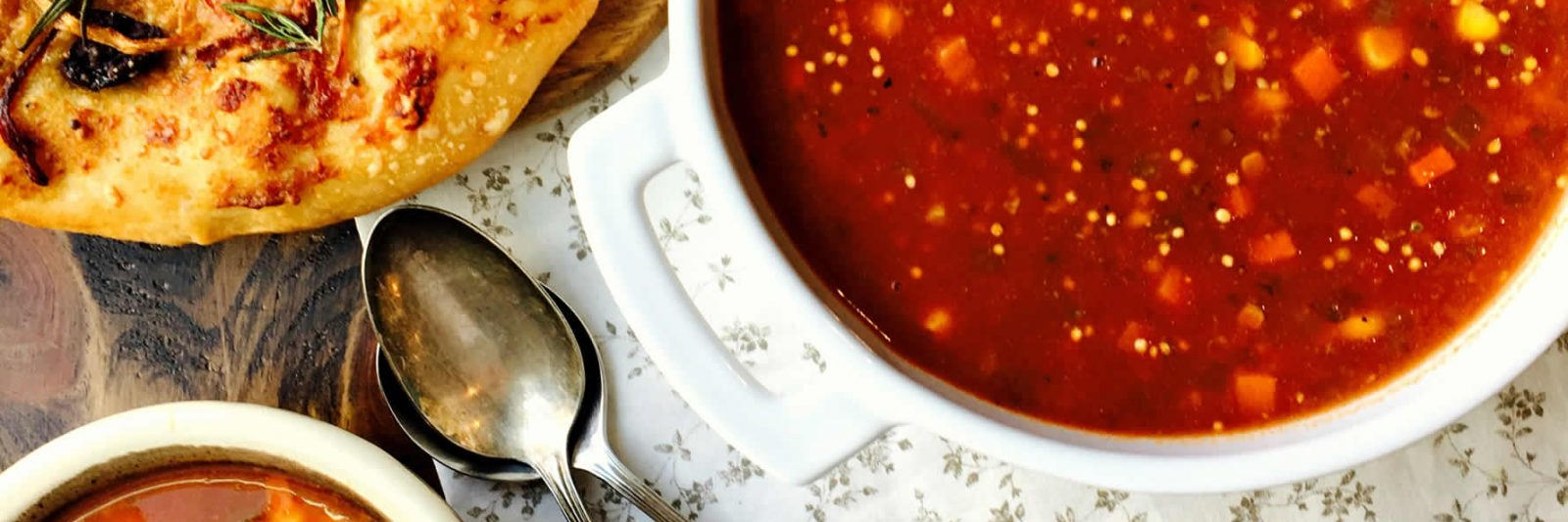 Soup, Stew and Casserole Recipes with Mustard - Hamburger Soup and Focaccia