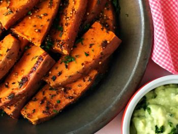 Spiced Sweet Potato Wedges With Buttermilk Dijon Dip