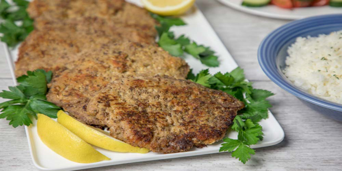 Flax Crusted Pork Cutlets