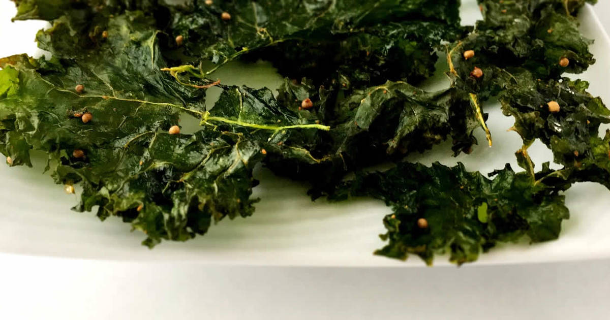 Kale Chips With Crunchy Mustard Seeds