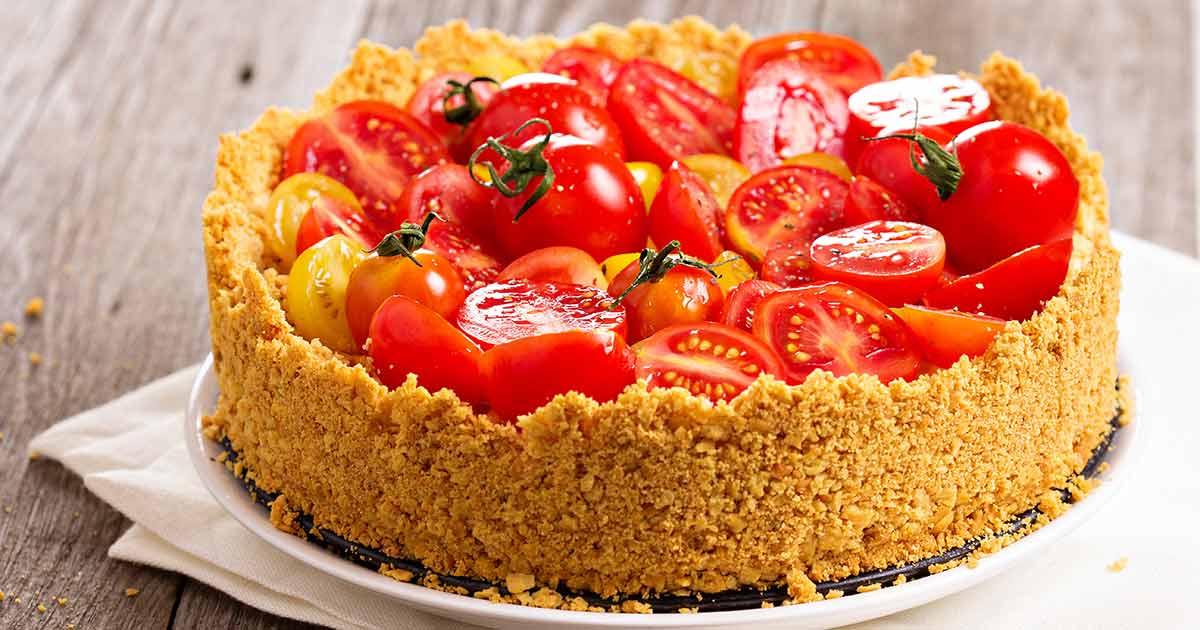 Caramelized-Onion-Tomato-Savoury-Cheesecake
